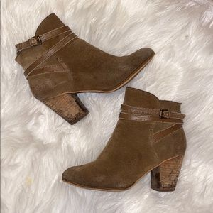 BP faux suede chunky bootie
